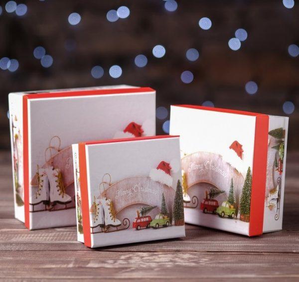 Новогодняя упаковка для печенья с предсказаниями